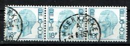 3X 18F Koning Boudewijn, Type Elström Uit 1980 (OBP 1963 ) - 1970-1980 Elström