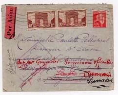 !!! PRIX FIXE : LETTRE PAR AVION DE 1935 POUR DJIBOUTI, AVEC REEXPEDITION A MADAGASCAR - Postmark Collection (Covers)