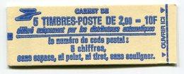 RC 11740 FRANCE CARNET 2274-C1a LIBERTÉ 5 TIMBRES A 2,00f MNH NEUF ** - Carnets