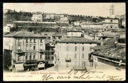 CARTOLINA CV2528 SVIZZERA SWITZERLAND 1900 Hotel & Pension Berna, Lugano, FP, Affrancata Con UPU 5 C., Viaggiata Per L'I - TI Tessin