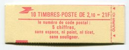 RC 11741 FRANCE CARNET 2319-C2 LIBERTÉ 10 TIMBRES A 2,10f MNH NEUF ** - Carnets