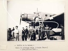 JL 1 Sabena. Savoia Oujda (Maroc). Juillet 1940. Ecole De Pilotage Belge. Repro - 1939-45