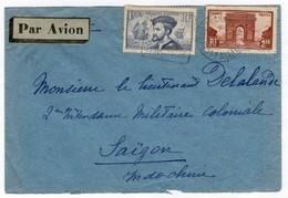 !!! LETTRE PAR AVION DE PARIS POUR SAIGON DE 1935 - 1927-1959 Brieven & Documenten