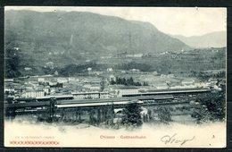 CARTOLINA CV2530 SVIZZERA SWITZERLAND 1900 Chiasso Stazione Del Gottardo, FP, Affrancata Con UPU 5 C., Viaggiata Per L'I - TI Tessin