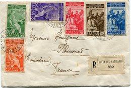 VATICAN LETTRE RECOMMANDEE DEPART CITTA DEL VATICANO 17-4-36 POSTE POUR LA FRANCE - Lettres & Documents