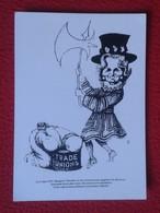 POSTAL POST CARD CARTE POSTALE MAGGIE MARGARET TATCHER POLITIC POLITICAL SATIRE SÁTIRA TRADE UNIONS SINDICATOS 1979 UK - Sátiras