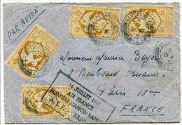 !!! 1ERE LIAISON RAPIDE AIR FRANCE AEF FRANCE 14/7/1946 - A.E.F. (1936-1958)