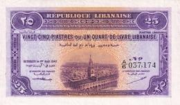 Lebanon 25 Piasters 1942 Ef - Liban