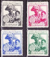 SURINAME 1931 Steuncommité Ongestempelde Serie NVPH 146 / 149 - Suriname ... - 1975