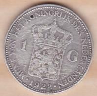 Pays-Bas, 1 Gulden 1922, WILHELMINA I , En Argent , KM# 161.1 - 1 Gulden