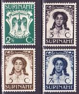 SURINAME 1938 Emancipatiezegels Ongestempelde Serie NVPH 183 / 186 - Suriname ... - 1975