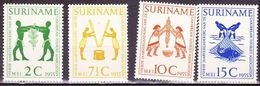 SURINAME 1955 4e Jaarvergadering Carribean Tourist Association Ongestempelde Serie NVPH 317 / 320 - Suriname ... - 1975