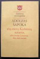 Lithuanian Book / 1655 M.Kėdainių Sutartis By Šapoka 1990 - Livres, BD, Revues