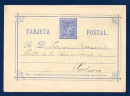 Espagne. Entier De 1875. P6 -II. 5 C Bleu ( Alphonse XII). Mai 1876 - Enteros Postales