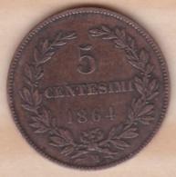 REPUBBLICA DI SAN MARINO. 5 CENTESIMI 1864 M - Saint-Marin