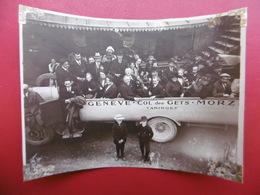 TANINGES AUTOBUS LIGNE GENEVE COL DES GETS MORZINE PHOTO 11 X 8 Cachet Verso - Luoghi