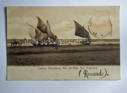 ARGENTINA MAR DEL PLATA Lanchas Pescadoras Boat AK CPA Old Postcard - Argentina