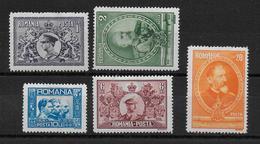 ROUMANIE - 1931 - YVERT N° 406/410 * MH - COTE = 50 EUR. - Nuovi
