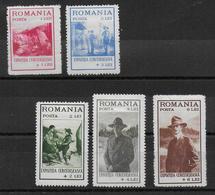 ROUMANIE - 1931 - YVERT N° 422/426 * MH - COTE = 35 EUR. - SCOUTISME - Unused Stamps