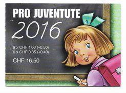 PRO JUVENTUTE 2016 ** SBK 45,- CHF - Booklets