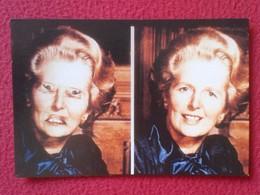 POSTAL POST CARD CARTE POSTALE MAGGIE MARGARET TATCHER POLITIC POLITICAL SATIRE SÁTIRA PETER THOMSON 1980 A NEW ILLUSION - Sátiras