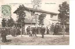 LOIRE SAINT GALMIER  LES COURSES  TRIBUNES RESERVEES ANIMEE ECRITE - Frankrijk