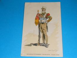"""Illustrateurs ) Toussaint Maurice N° 360 Régiment étranger """" Infanterie """" Grande Tenue  : Année 1938 EDIT - Militaire - Illustrators & Photographers"""
