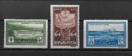 ROUMANIE - 1932 - YVERT N° 449/451 * MH - COTE = 25 EUR. - - Unused Stamps