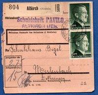 Colis Postal -  Départ Altkirch  -  02/2/1943 - Allemagne
