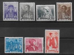ROUMANIE - 1936 - YVERT N° 498/504 * MH - COTE = 16.5 EUR. - - Nuovi