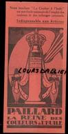 Carton PAILLARD La Reine Des Couleurs à L'huile Et Craie D'art Dessin L. BOUTIN - Publicités