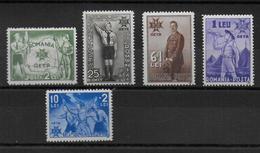 ROUMANIE - 1935 - YVERT N° 481/485 * MH - COTE = 50 EUR. - SCOUTISME - Nuovi
