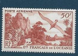 Timbres Neufs * établissements Français De L'océanie,.n°26 Yt, Poste Aérienne, Oiseaux, Paysage - Océanie (Établissement De L') (1892-1958)