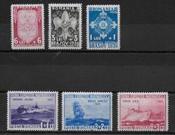 ROUMANIE - 1936 - YVERT N° 505/510 * MH - COTE = 55 EUR. - SCOUTISME + MARINE - Unused Stamps