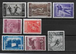 ROUMANIE - 1937 - YVERT N° 515/522 * MH - COTE = 25 EUR. - SPORTS - Unused Stamps