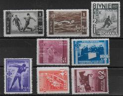 ROUMANIE - 1937 - YVERT N° 515/522 ** MNH - COTE = 45 EUR. - SPORTS - Unused Stamps