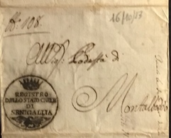 1813 SENIGALLIA PER MONTALBODDO - Italy