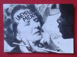 POSTAL POST CARD CARTE POSTALE MAGGIE MARGARET TATCHER POLITIC POLITICAL SATIRE SÁTIRA UNEMPLOYMENT DESEMPLEO UK VER FOT - Sátiras