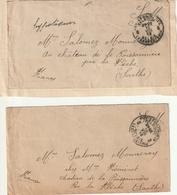 2 X Letter Militaire Belgie Par  France Sarthe - Armée Belge