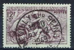 France, Season, Autumn Statue In Paris, 1949, VFU - Usados