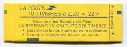 RC 11751 FRANCE CARNET 2376-C11 LIBERTÉ 10 TIMBRES A 2,20f MNH NEUF ** - Carnets