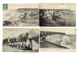 Lot 4 Cpa - 14 - Arromanches - Falaises Du Tracy Vue Générale Effet Du Ressac Plage Tentes - Arromanches