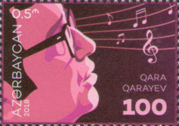 Azerbaijan MNH** 2018 Singer Qara Qarayev Mi 1368 - Azerbaïdjan