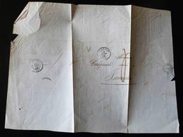 LETTRE DE VIERZON POUR ISSOUDUN  -  1849                                                                               - - Postmark Collection (Covers)