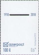 Azerbaijan MNH** 2018 100 Year Azerbaijan Post Mi 1399 - Azerbaïdjan