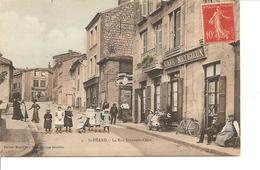 LOIRE  SAINT HEAND  LA RUE JOHANNES ODIN ANIMEE ECRITE COLORISEE - Frankrijk