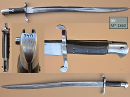 Baïonnette / Bayonet / Bajonett / Baioneta Grande-Bretagne 1860 - Armes Blanches