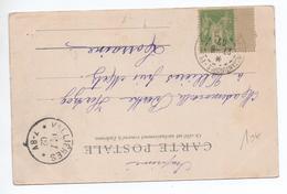 1902 - CP De CONSTANTINOPLE PERA Avec TYPE SAGE - BUREAU FRANCAIS A L'ETRANGER BFE - Postmark Collection (Covers)