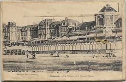 14. CABOURG.  CARTE A SYSTEME.  LA PLAGE ET LE GRAND HOTEL - Cabourg