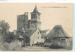 CPA 12 Aveyron Eglise Sainte Ste Radegonde Près Rodez - Andere Gemeenten